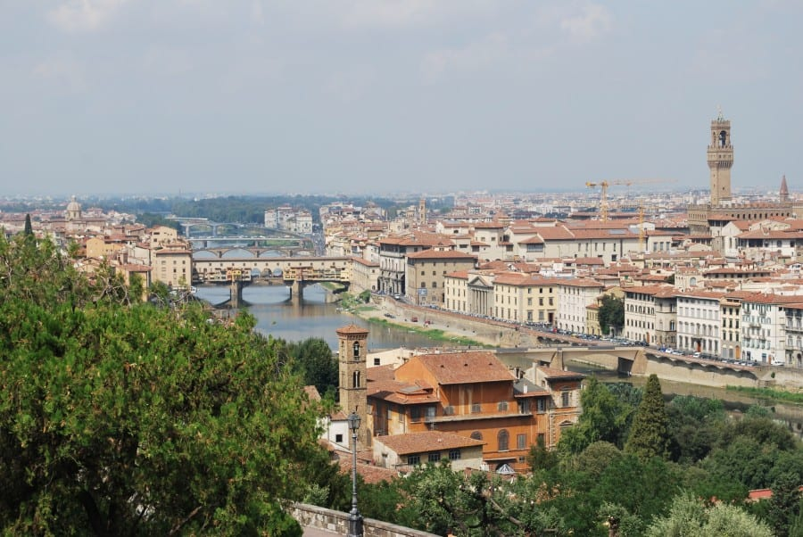 Florence Piazza Michelangelo View Arno Valley