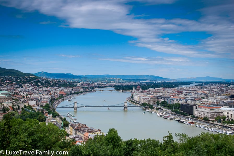 View of Budapest and the bridges over the Danube