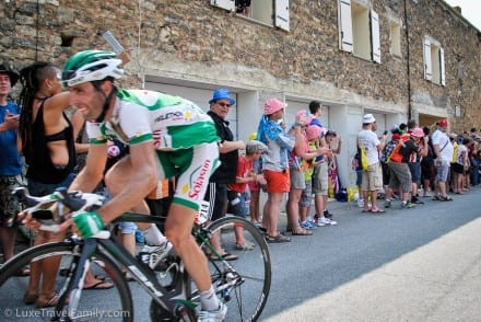Tour de France heading up Mont Ventoux