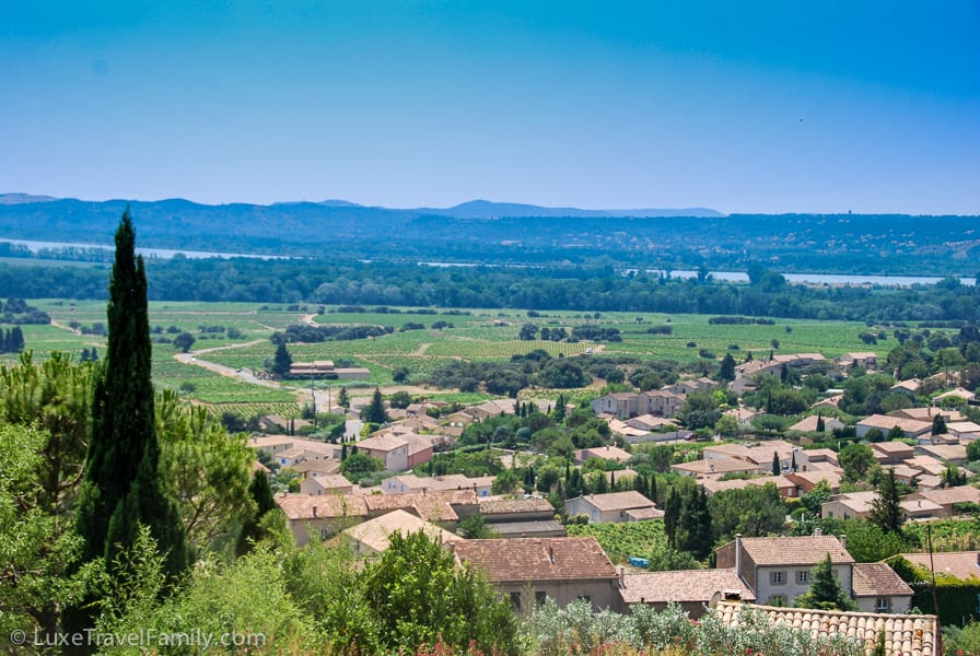View from Hotel Crillon le Brave in Provence