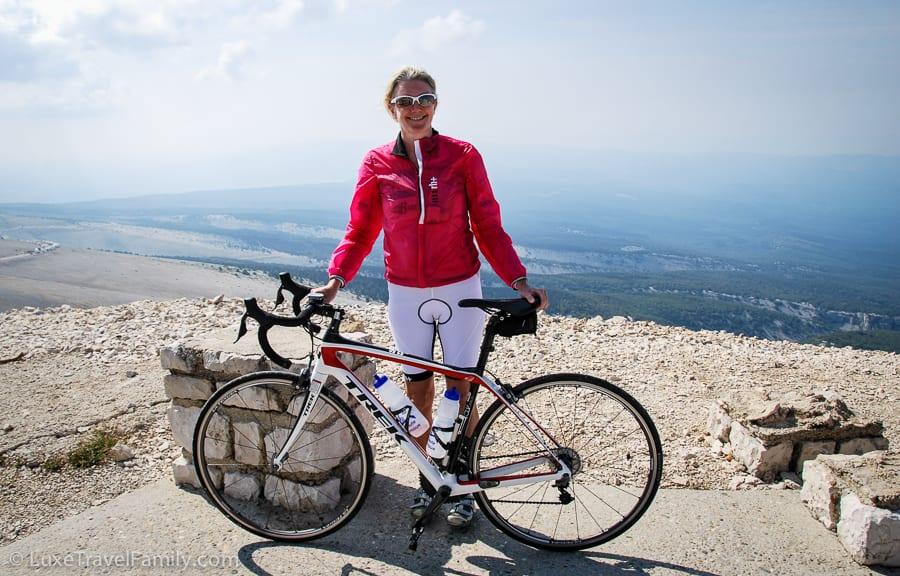 Riding up Mont Ventoux before the Tour de France