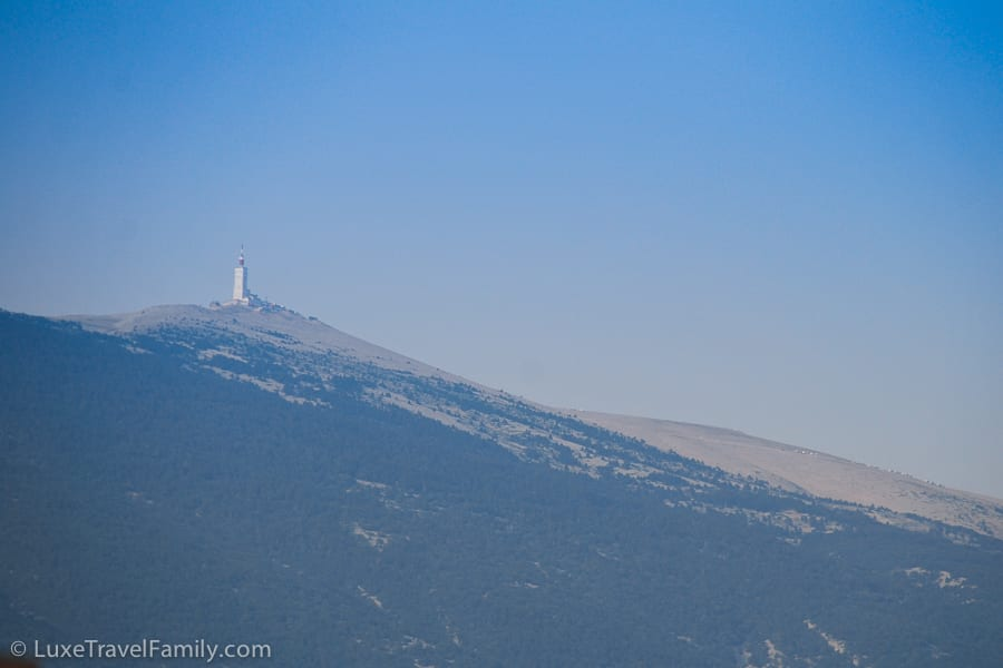 The Tour de France finish on the summit of Mount Ventoux