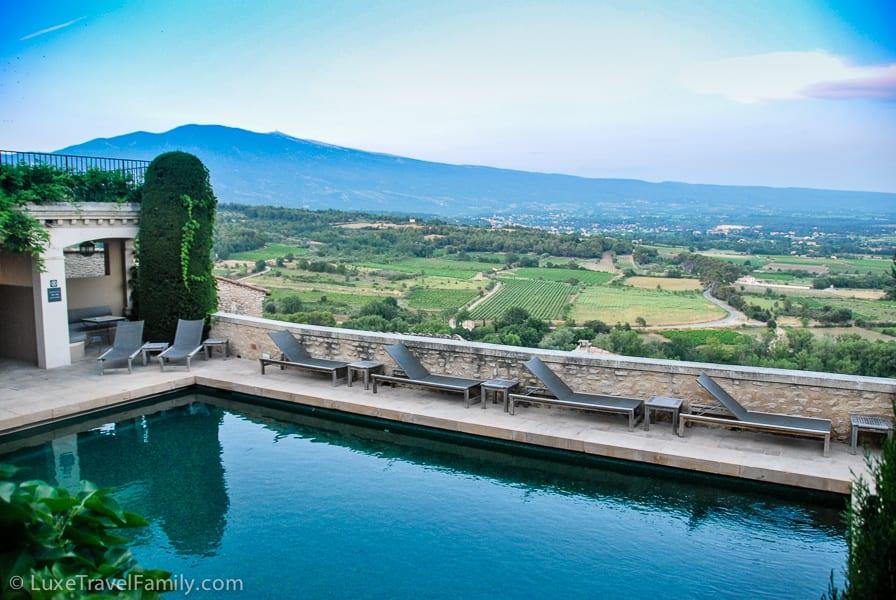Beautiful pool at Hotel Crillon-le-Brave