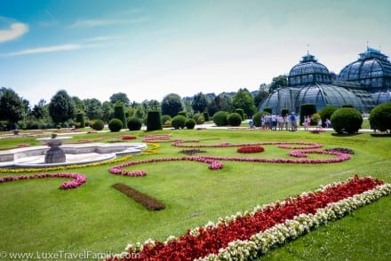 Schonbrunn Palace Palm House and gardens