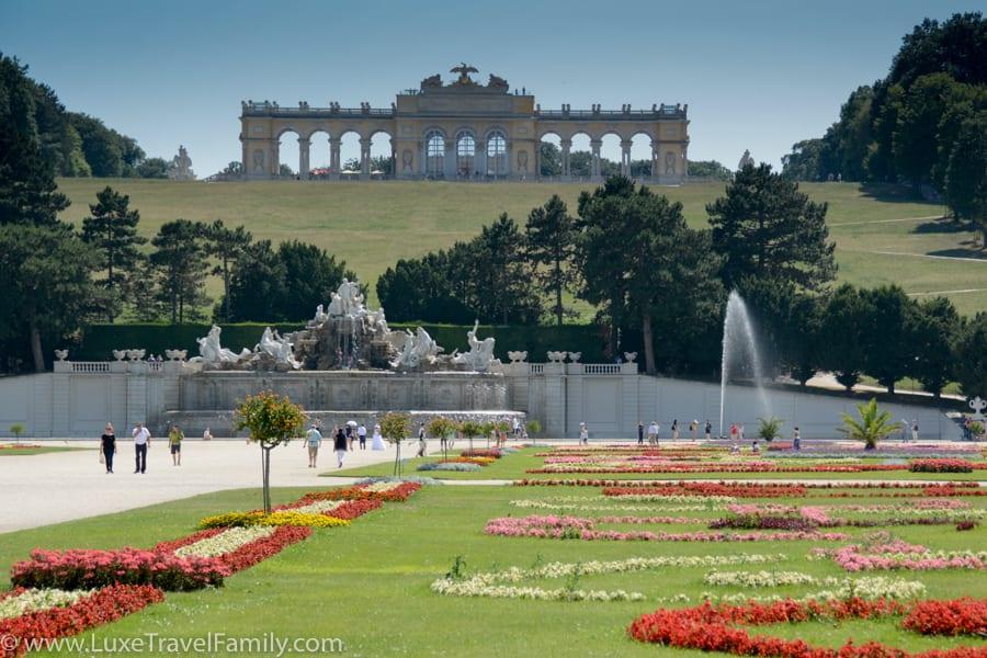 Gardens Schönbrunn Palace Vienna