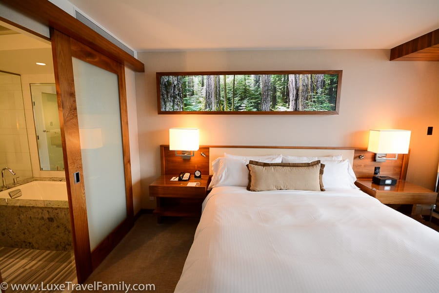 Cozy guest room Fairmont Pacific Rim Gold Floor