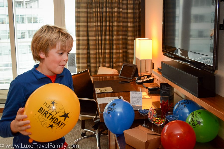 Fairmont Pacific Rim Gold Floor Birthday surprise