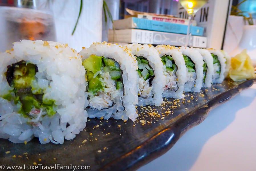 Sushi from Fairmont Pacific Rim Raw Bar