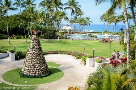 Fairmont Orchid tree Spending Christmas in Hawaii