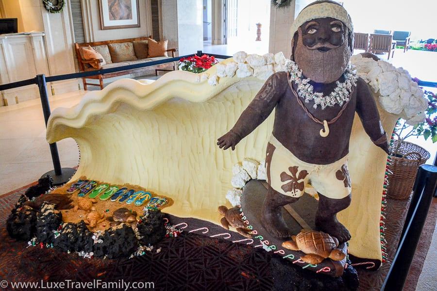 Spending Christmas in Hawaii Chocolate Santa
