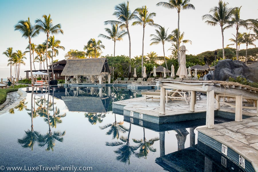 Four Seasons Hualalai luxury hotel Sea Shell Pool