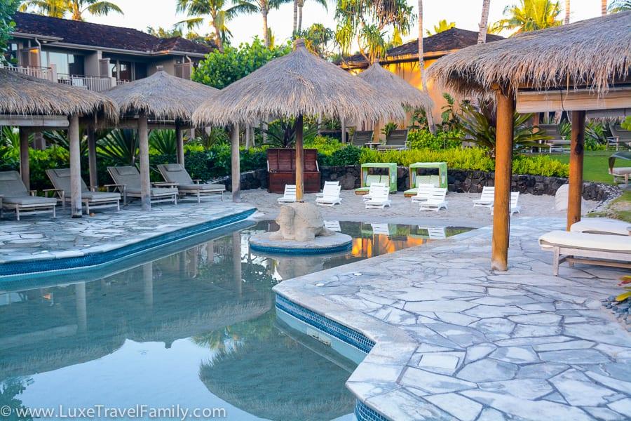 Keiki Pool hualalai best luxury hotel pools for family fun
