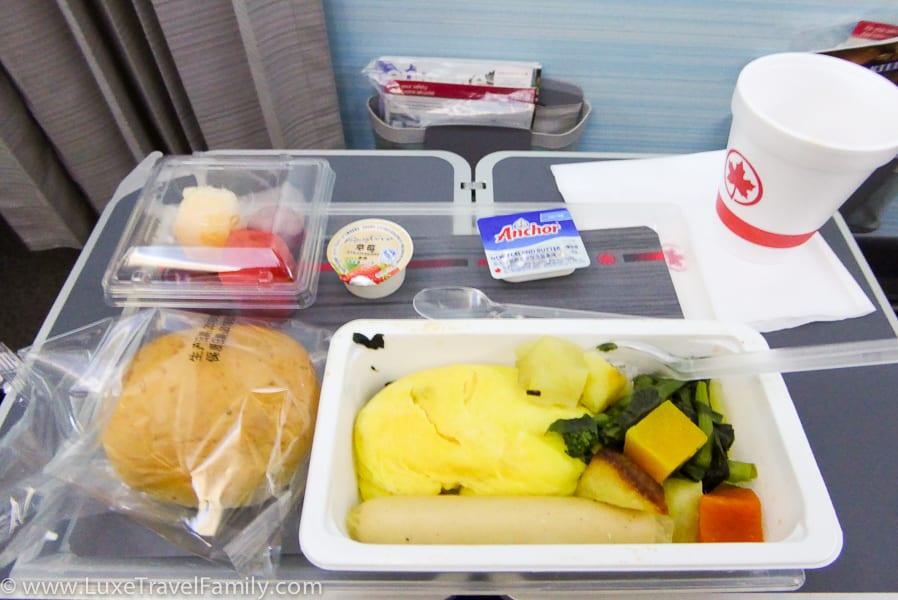 Air Canada Premium Economy Review Breakfast