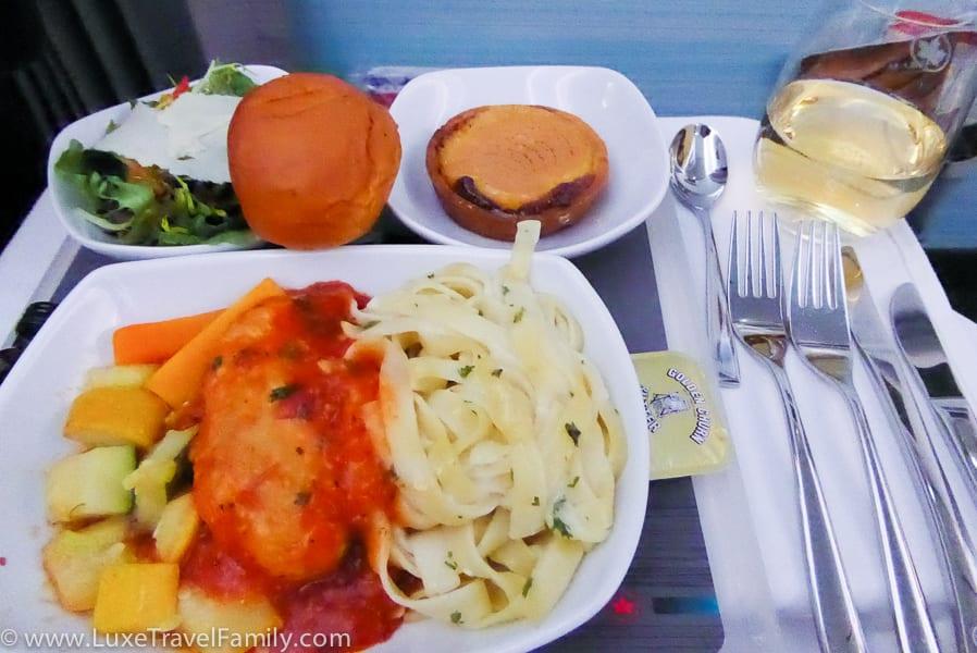 Air Canada Premium Economy Dinner