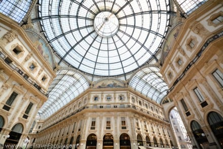Inside the Galleria Vittorio Emanuele II in Milan