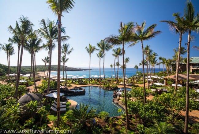 Swimming area at Four Seasons Resort Lanai