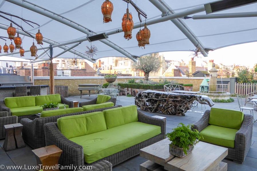 The Roof Terrace Ham Yard Hotel London