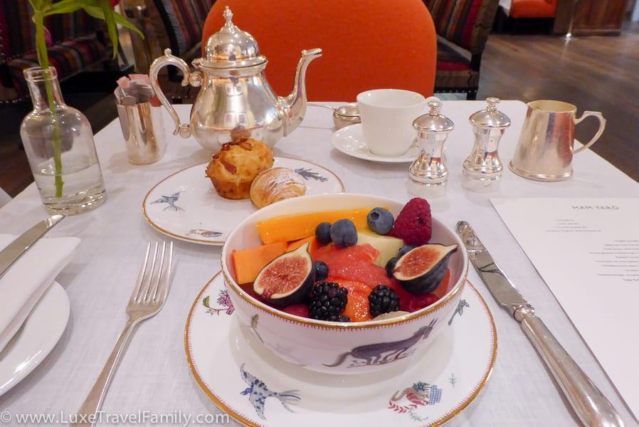 Breakfast at The Ham Yard Hotel London