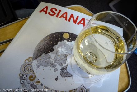 Champagne Business Class on Asiana Airlines