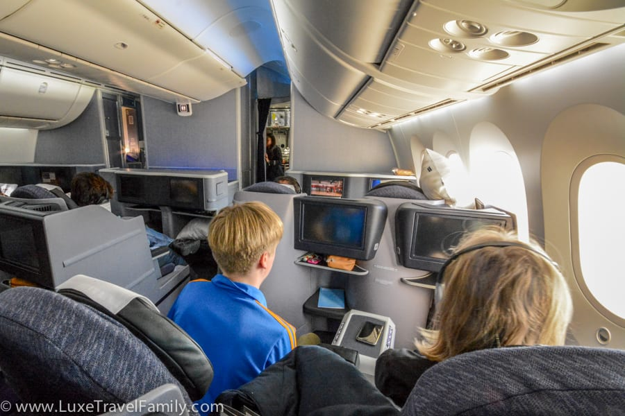 Cabin BusinessFirst on a United Airlines 787 Dreamliner