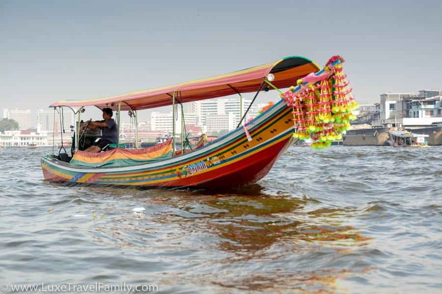 Long tail boat bangkok warm weather beach vacation