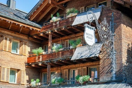 Facade Hotel Post Bezau Austria