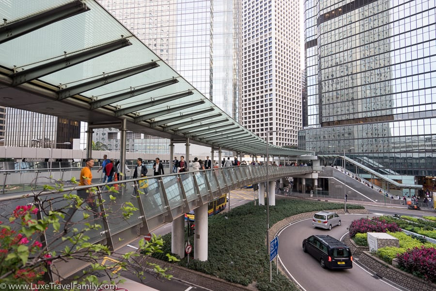 Four Seasons Hong Kong location covered walkways
