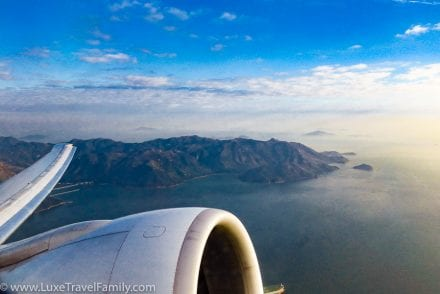 Cathay Pacific Business Class Hong Kong view