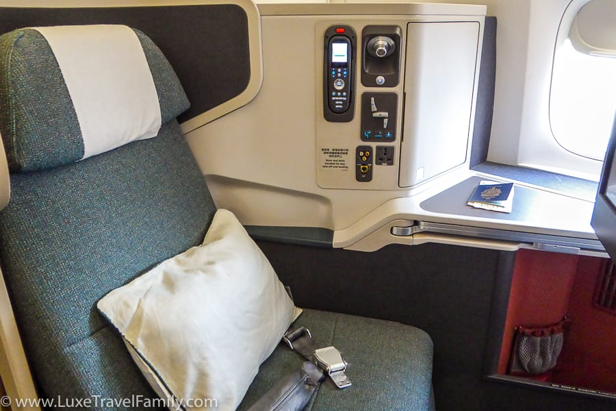 Cathay Pacific Business Class Hong Kong Seat