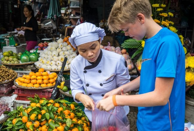La Residence Hue Cooking Class market tour