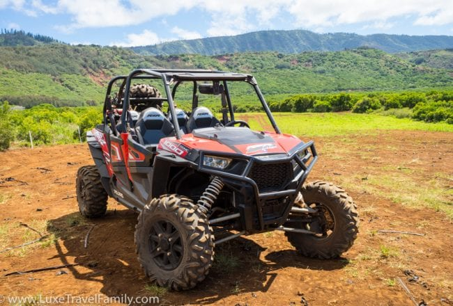 Explore nature Lanai Polaris off-road tour