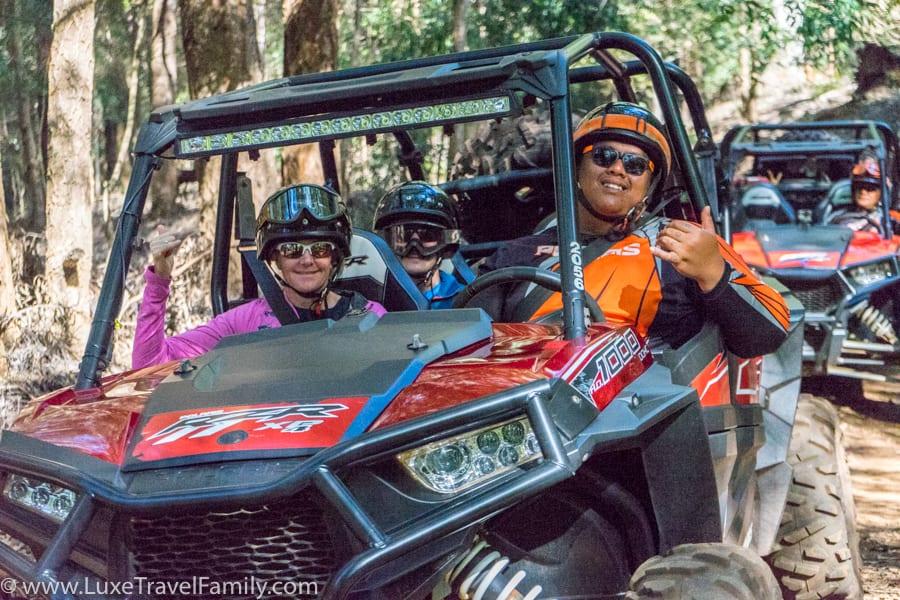 Lanai Polaris off-road tour fun