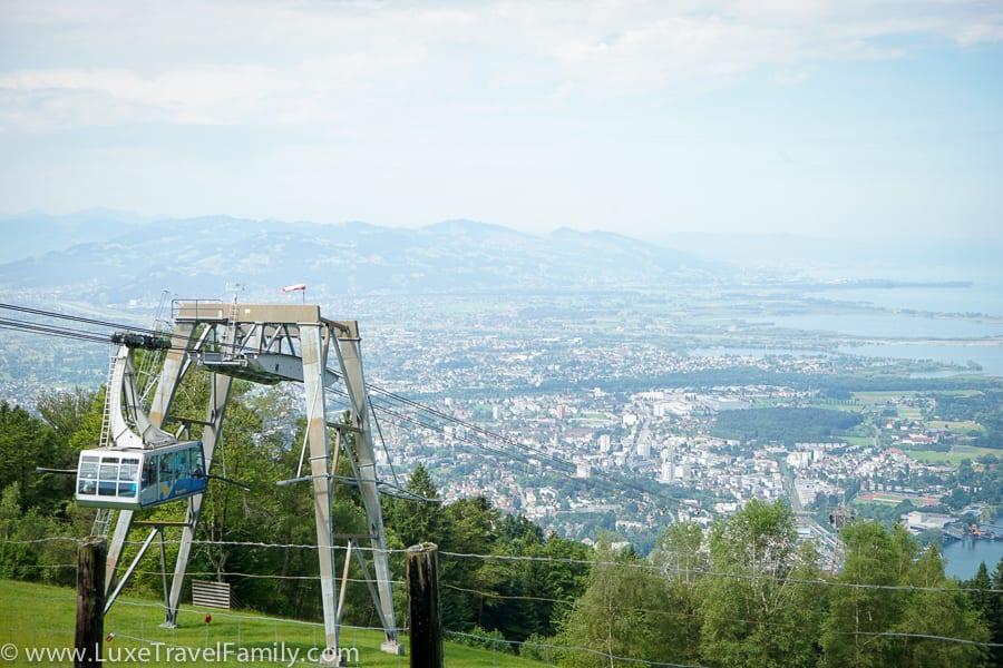 Pfänder Mountain views summer vacation in Europe
