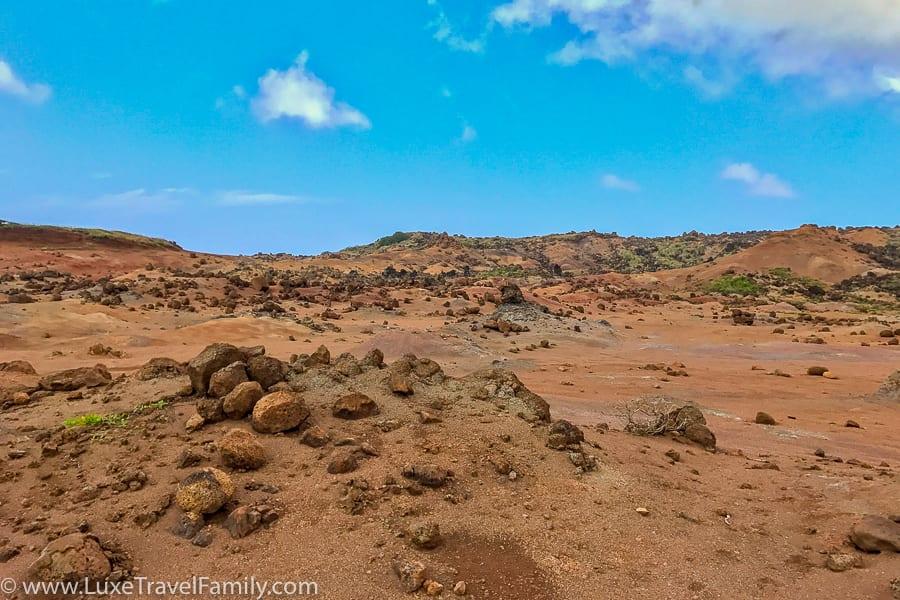 Keahiakawelo (Garden of the Gods) lunar landscape on Lanai