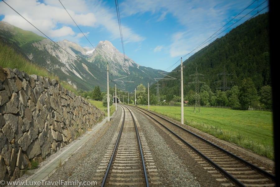 Train tracks Austria summer travel in Europe