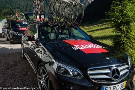 InGamba on-ride support best place for road cycling in the Dolomites