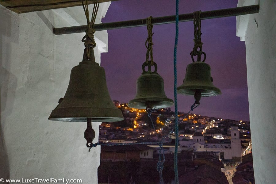 San Francisco Church bells things to do in Quito with kids