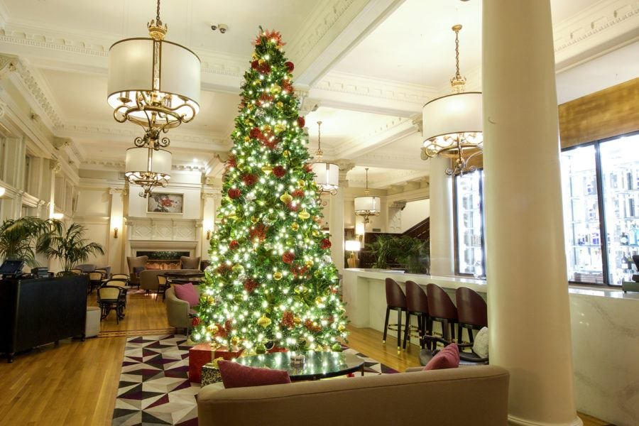 Fairmont Empress Christmas tree things to do in Victoria, B.C. at Christmas