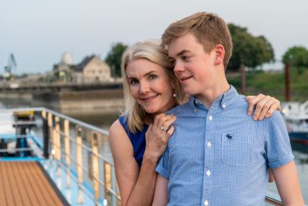 Mom son AmaWaterways family river cruise