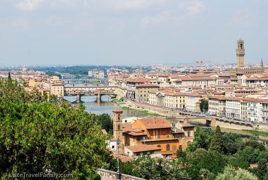 Florence Italy Arno River Palazzo Vecchio
