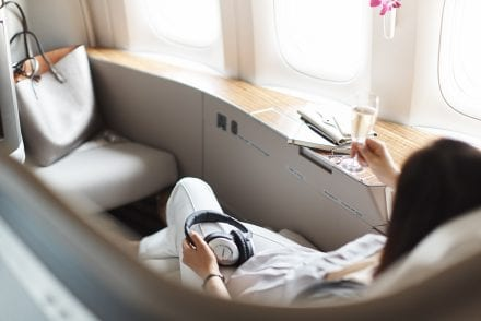 Woman Cathay Pacific First Class